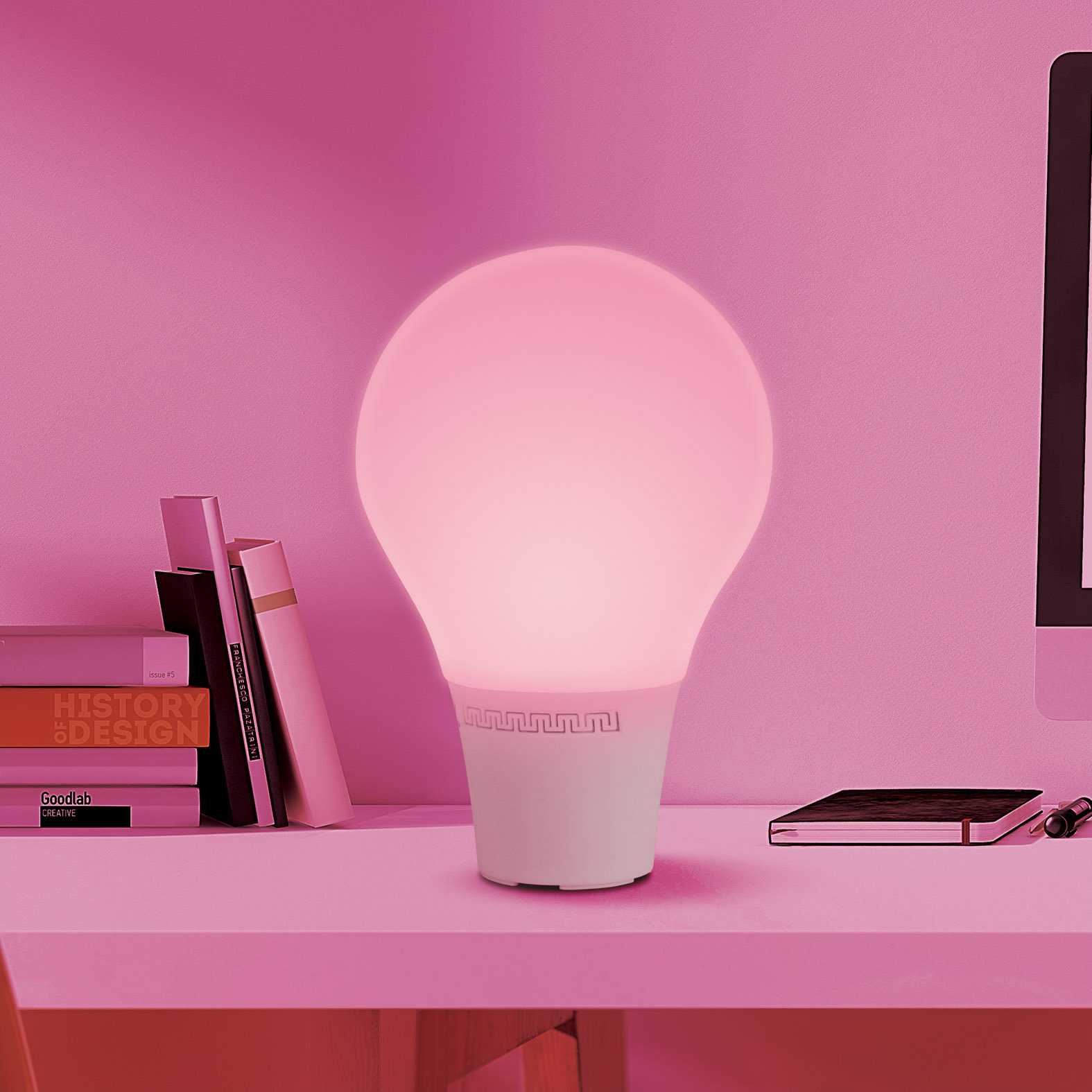 2015 新款 触摸硅胶灯罩 可充电智能情感蓝牙音响7彩灯  创意台灯