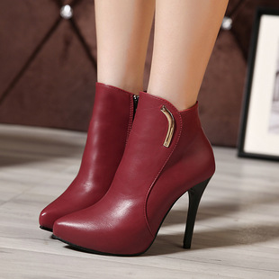 Sexy high-heeled boots point of new fund of autumn winters is fine with Martin boots in waterproof and ankle boot s