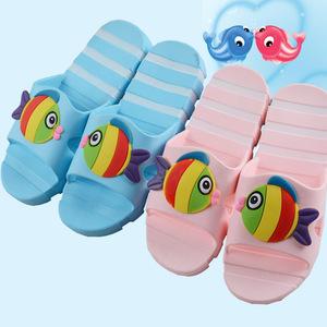 女士家居凉拖鞋可爱鱼室内凉拖鞋女夏季浴室防滑防水