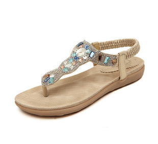 The new new sandals 2016 han edition Sandals flip-flops shoes diamond beach shoes