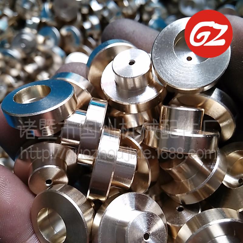 厂家定做非标五金机械配件 偏心小孔加工 黄铜大垫片 袖珍连接杆