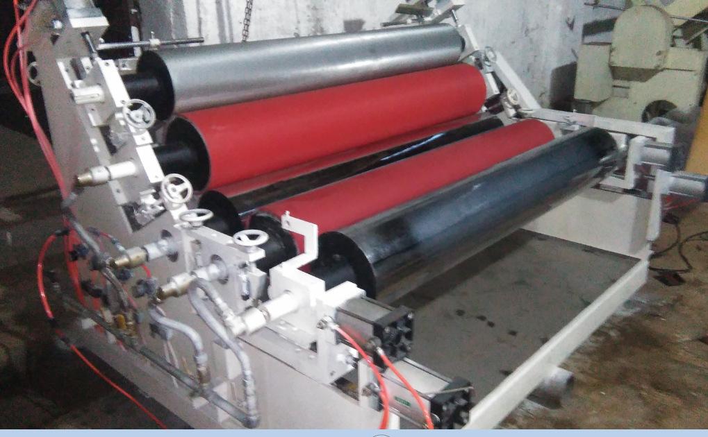 现货供应二手1700MM五辊无溶剂硅油涂布机图片