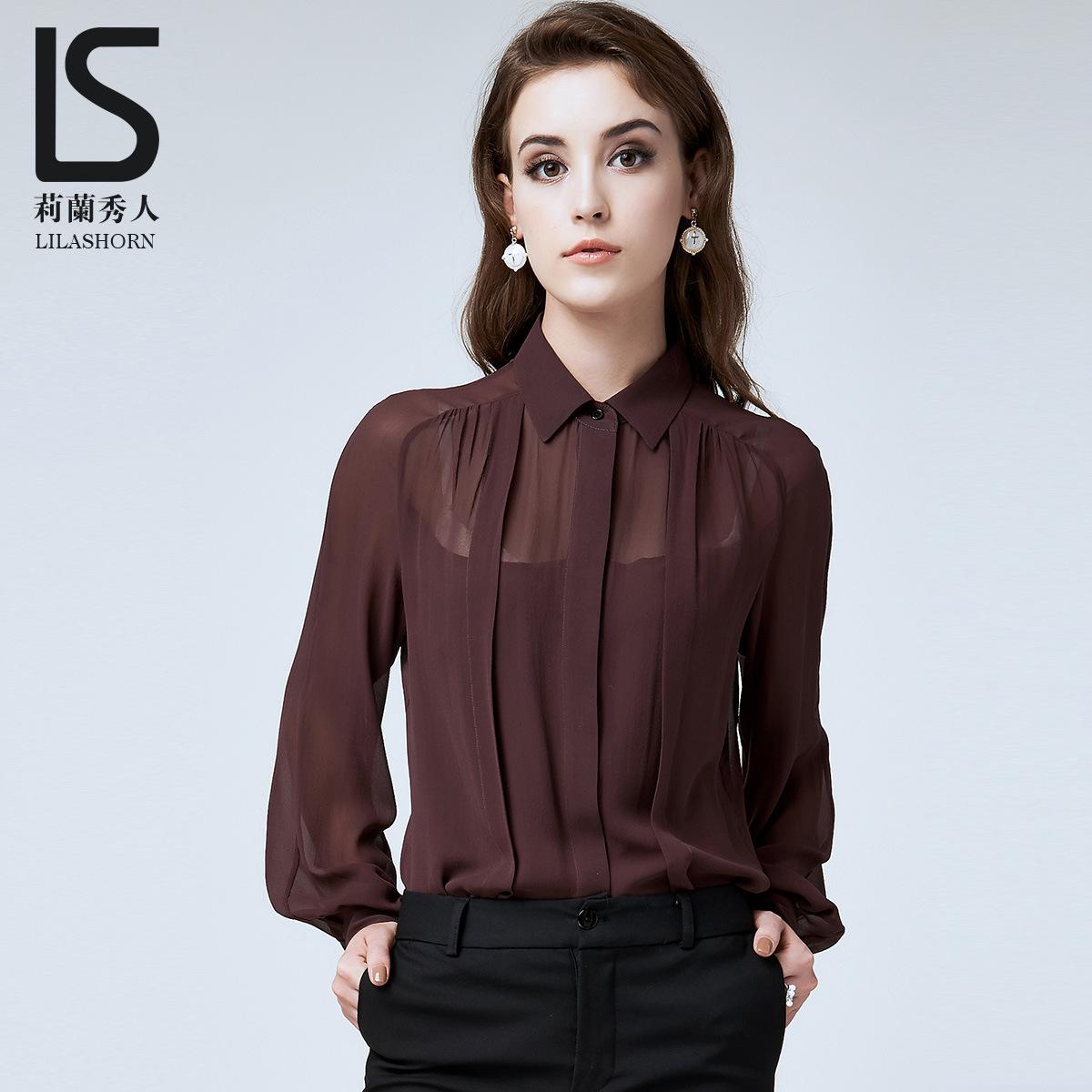 Shirt design female - Lilan Hideto 2015 Hitz Original Design Women Autumn Jacket In 100 Silk Shirt Female
