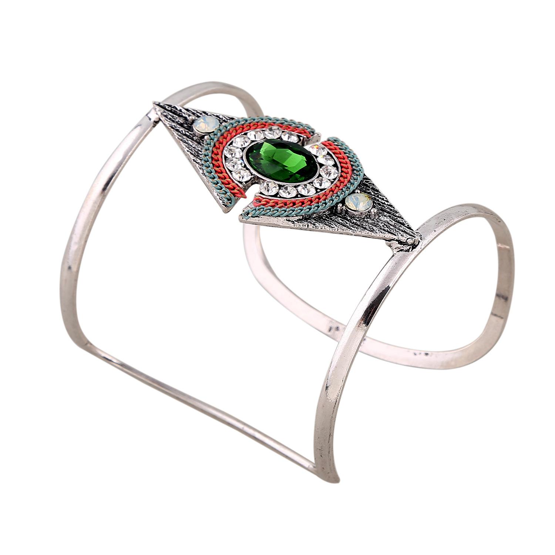 欧美时尚 金色镂空玻璃镶钻手环手链 BZ0377