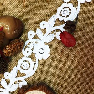 镂空蕾丝刺绣花边 古典婚纱精美水溶花朵