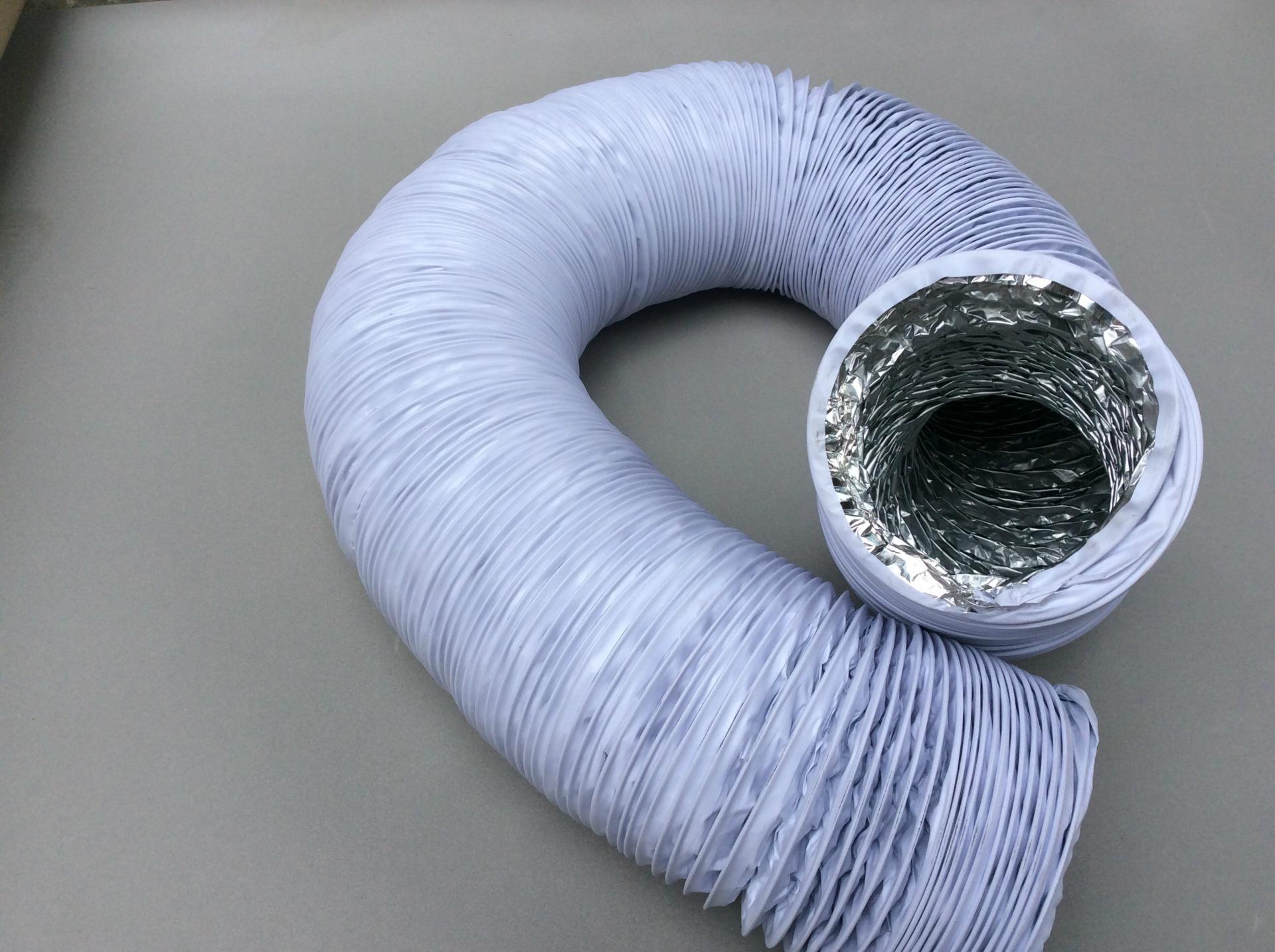 带钢丝通风铝箔软管外带pvc复合管直径115mm7米根 伸缩软管图片