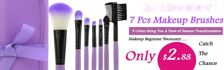 7pcs/kits Makeup Brushes Professional Set Cosmetics Brand Makeup Brush Tools Foundation ...