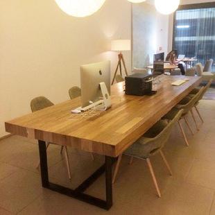 新款热销美式复古实木会议桌 做旧办公桌 厂家直销工作台 可订做