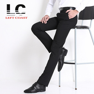 2015 Wholesale Korean version of the latest men's business trousers Slim business suits men's trousers male trou