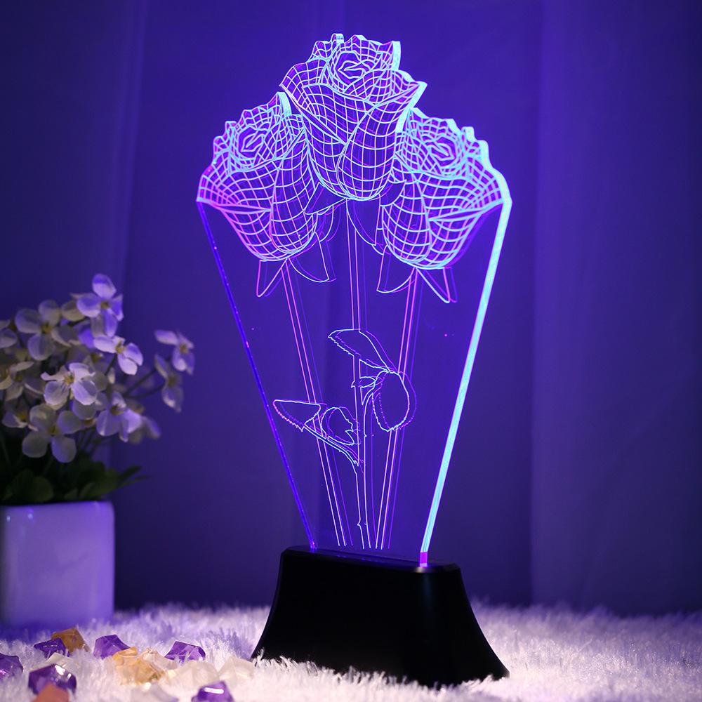 新奇特3D视觉立体灯 LED装饰个性台灯 卧室客厅创意氛围灯 礼品