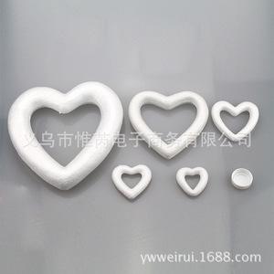 厂家直销保丽龙泡沫桃心实心空心爱心婚庆幼儿园装饰