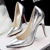 And the wind sexy thin fine with high-heeled shoes at shallow mouth pointed snake shoes high-heeled shoes