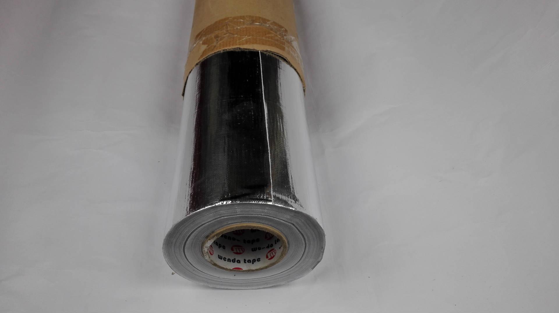 特厚玻钎布箔胶带 自粘铝箔布 文达铝箔布胶带 不干胶玻钎铝箔布图片