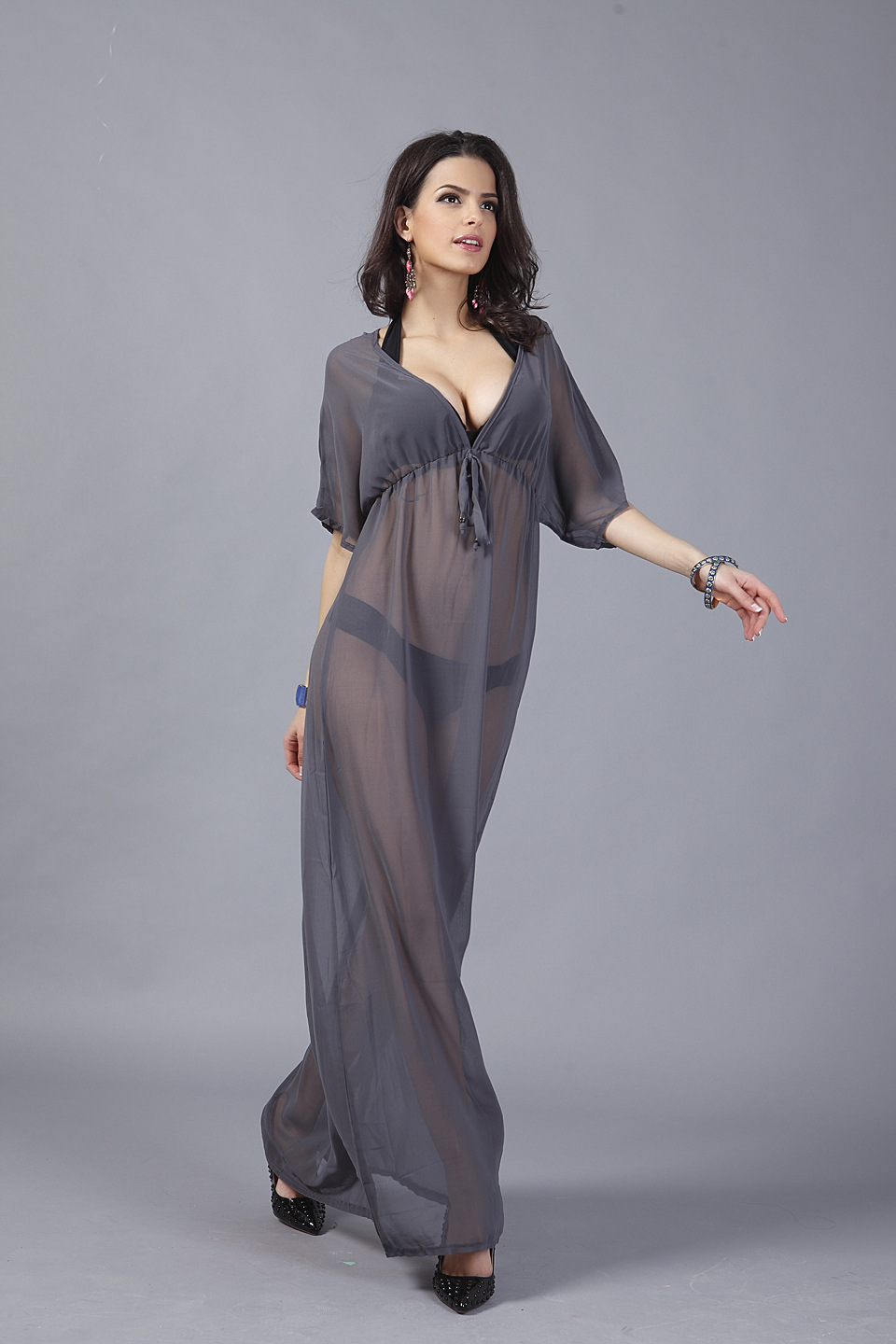 2015 new fashion women honeymoon maxi long dress women summer chiffon deep v beach dress sexy. Black Bedroom Furniture Sets. Home Design Ideas