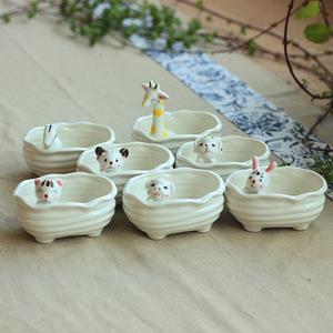 可爱动物zakka工艺品桌面摆件花盆
