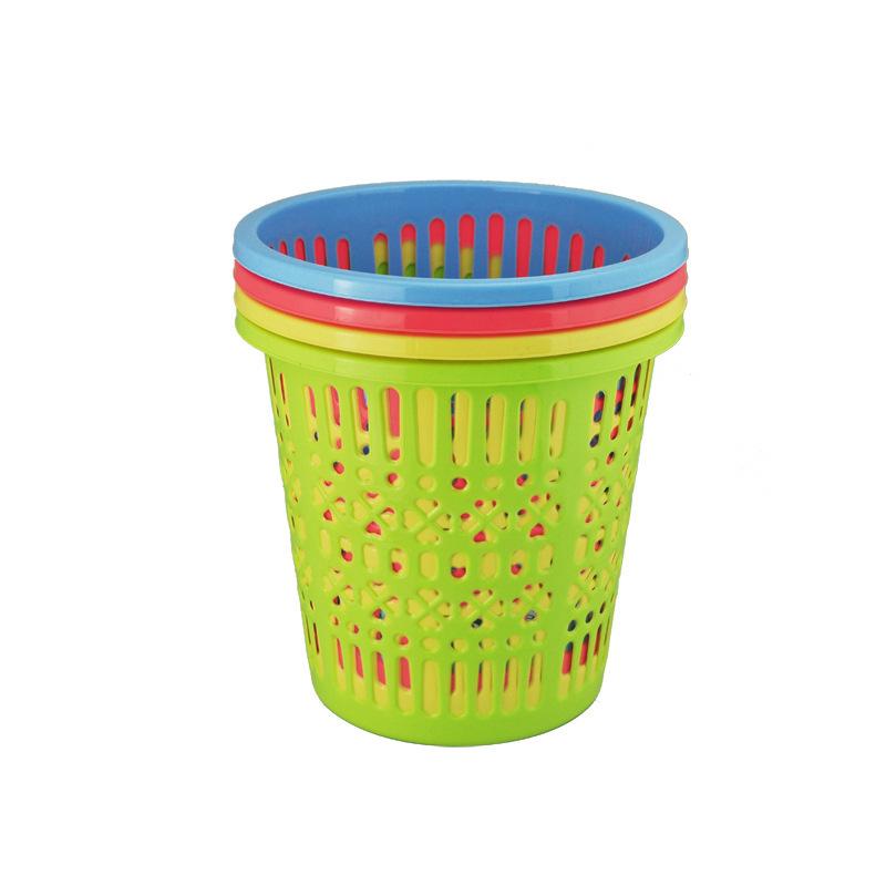 批发外贸时尚收纳桶塑料镂空垃圾桶 垃圾篓废纸篓 精致镂空型图片