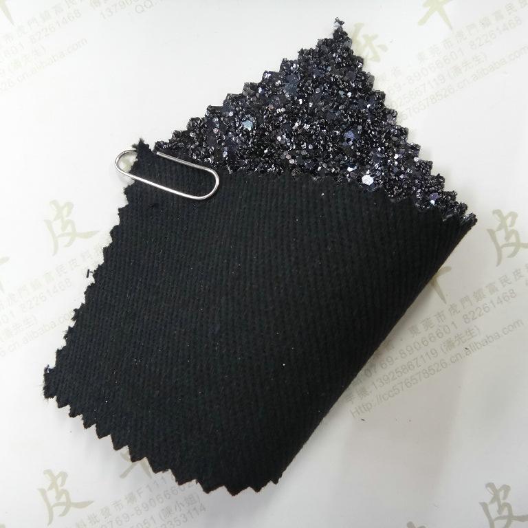 变色龙粗葱立体大小六角斜纹棉布底环保格丽特皮革