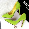 Korean fashion sexy ultra fine with simple OL occupation suede high-heeled women shoe pointed hollow shallow mouth