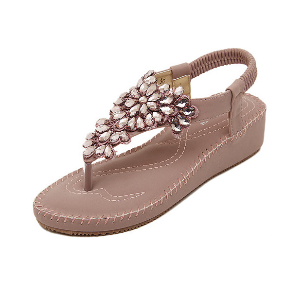 2016 new checking sandals new diamond beach sandals flip-flops shoes for women's shoes by hand's main photo