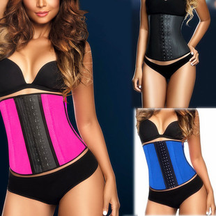 Foreign trade explosion models 4 color options SRC fat burning abdomen girly latex rubber corset corset wholesale