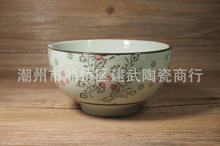 日式陶瓷 手绘釉下彩 陶瓷碗 新画面五色 5寸大肚碗