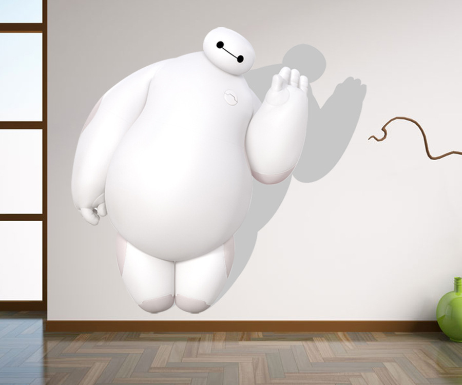Big Hero 6 Baymax Poster Removable Wall Sticker Decal
