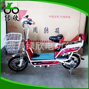 绿欣电动自行车 都市风采红色小型女士电动车