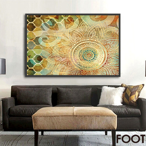 卧室复古美式风格装饰画有框