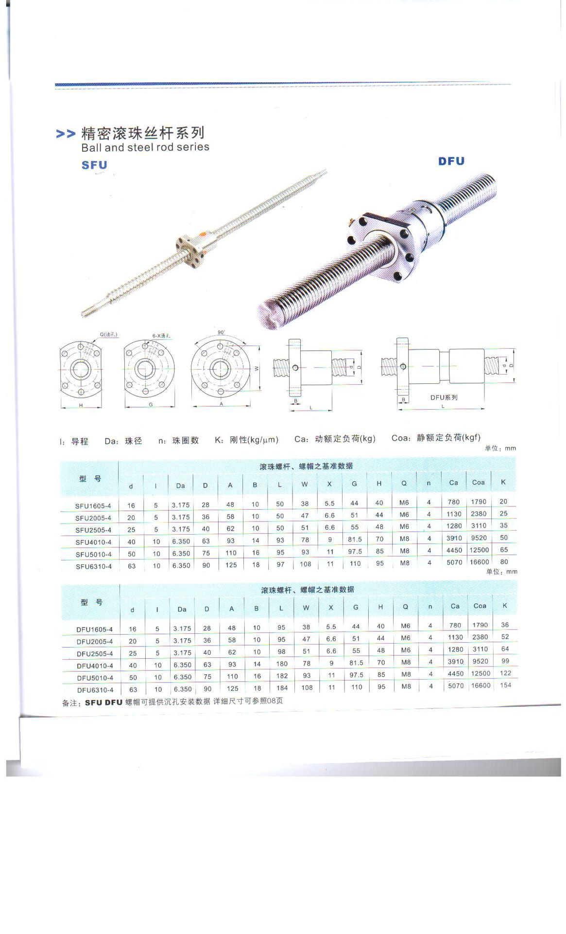 厂家供应高精度 国产丝杆 DFU2010 双螺母 非标订做 滚珠丝