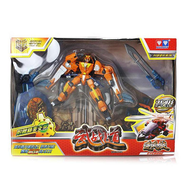 【乐美玩具】 武战道升级变形系列逆风旋变身机器人 儿童玩