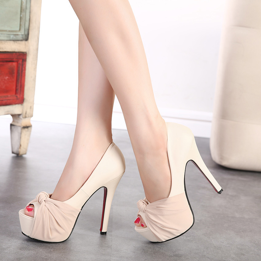 Waterproof table fish mouth high-heeled shoes to work fine with sexy nightclub Korean princess shoes high documentary sh's main photo