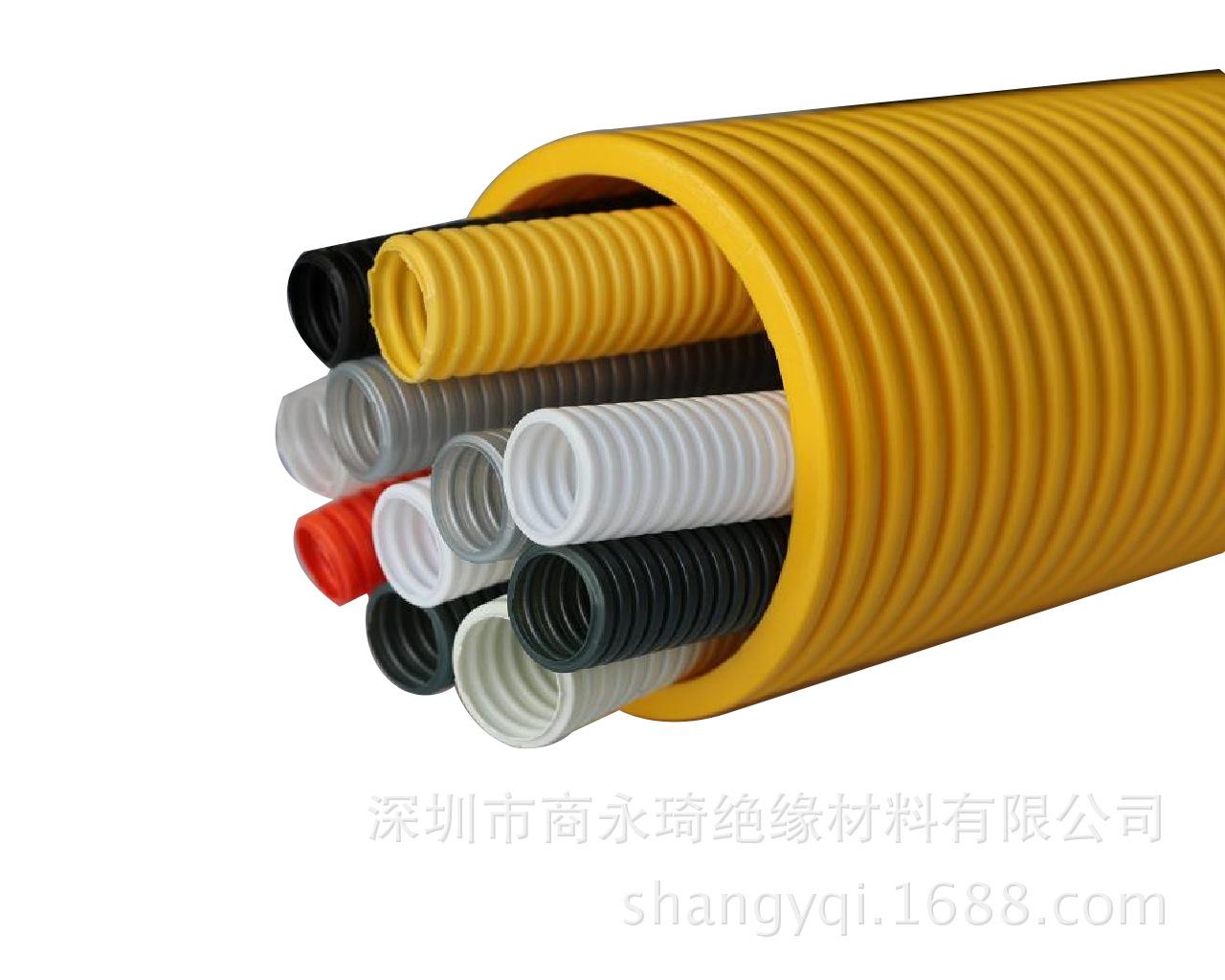 橙色波纹管 深圳橙色阻燃尼龙护套管厂家 ROHS环保认证 出口品质