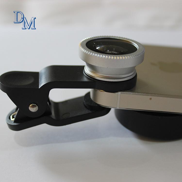 厂家特价批发智能手机通用镜头 鱼眼广角微距三合一自拍镜头