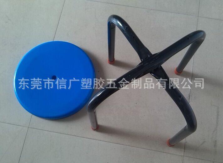 供应优质钢塑圆凳 塑胶圆凳 22管防静电黑色圆凳 黑色钢塑
