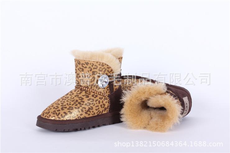 新款澳洲羊皮毛一体雪地靴 秋冬保暖儿童鞋 宝宝鞋男女鞋一件代发