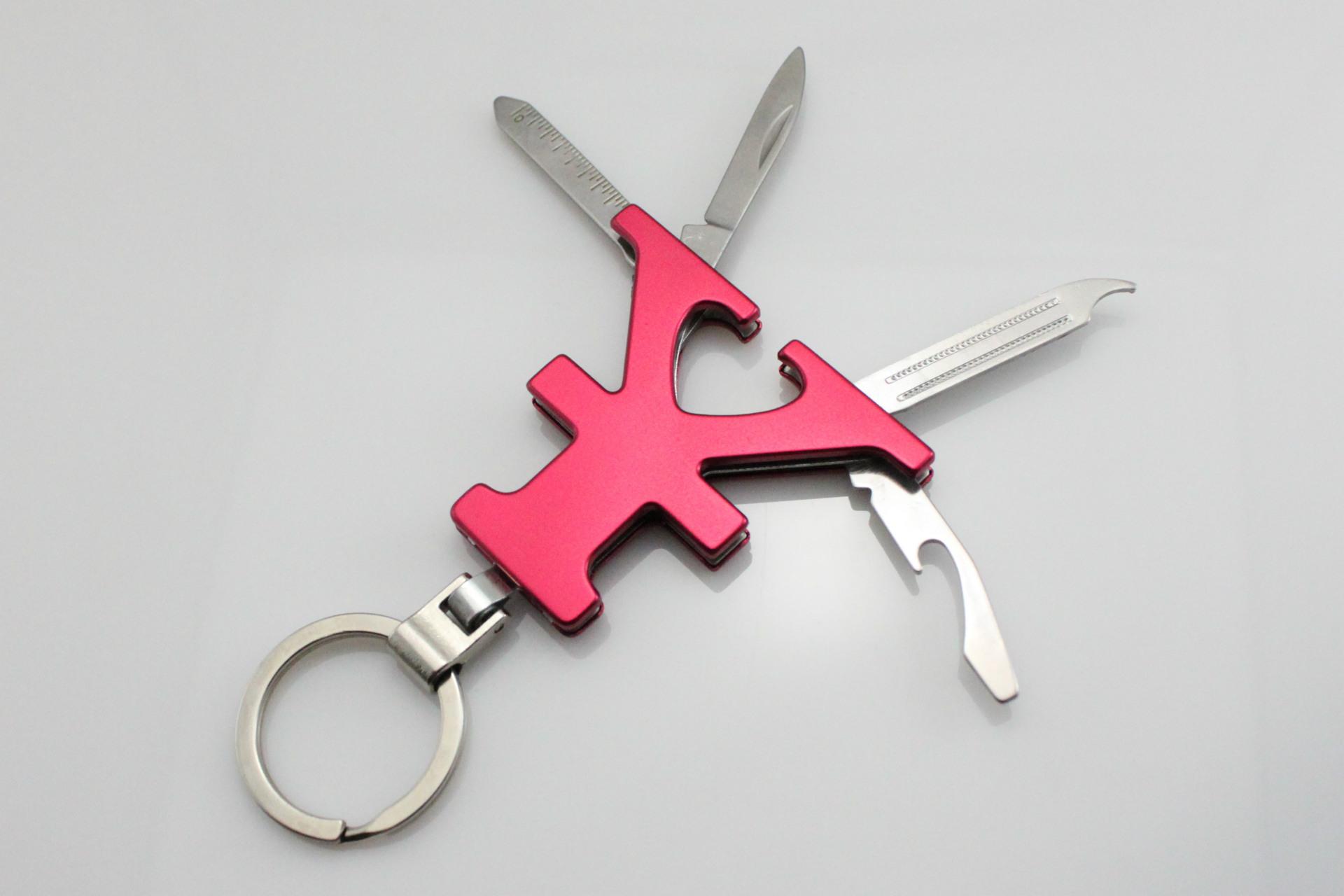 人民币符号礼品小刀 多功能广告促销赠品小刀 多用钥匙扣小刀图片