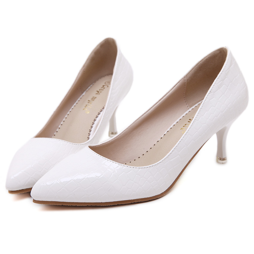 The new autumn 2015 Han edition women's shoes OL sexy high-heeled pointed nightclub princess thin and sexy women's shoes's main photo