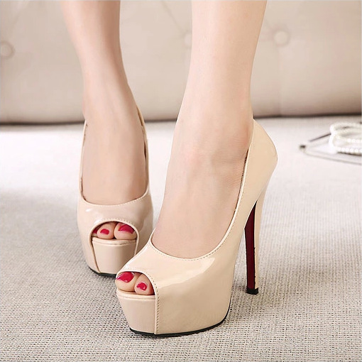 2015 summer new sexy super high heels with water table fish mouth thin with OL single shoes commuter high heel's main photo