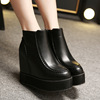 【MOQ 50 pairs】Han edition wedge heels increased new winter within large base sponge waterproof Taiwan round head Martin