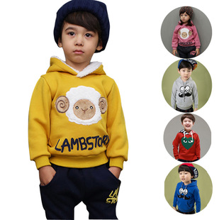2015 autumn and winter new Korean boy cartoon images of hooded sweater embroidered sweater Kids jacket Children