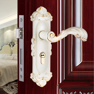 欧式室内卧室房门锁现代简约防盗门实木