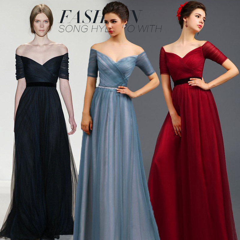 2015 new European evening dress long section of banquet toast we