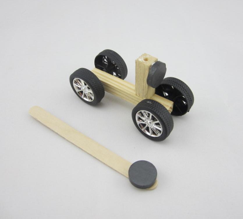 磁力小车 斥力小车 手工科技小制作DIY益智玩具
