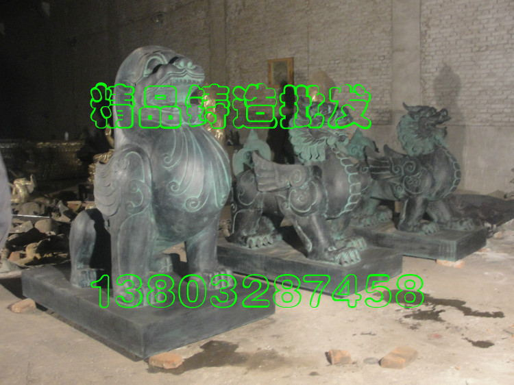 动物雕塑_独角兽雕塑貔貅雕塑玻璃钢树脂防铜动物