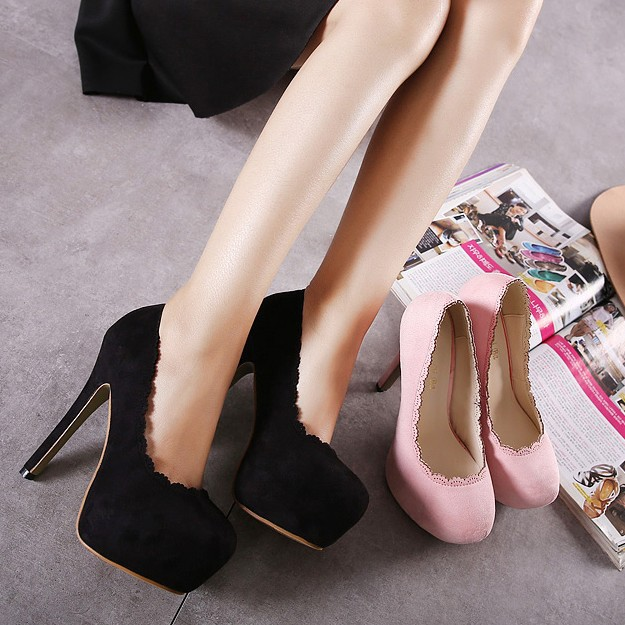 Super high-heeled shoes shoes in the spring of 2016 South Korean female Club Princess waterproof fine with OL''s main photo