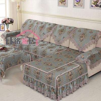 新款欧式沙发垫沙发套布艺绗绣