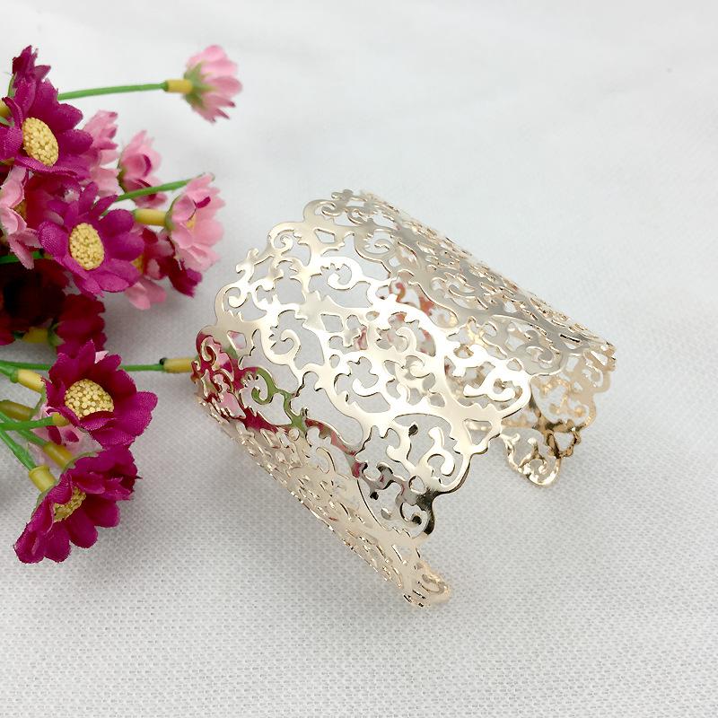 4pcs/lot 2016 New Fashion Bracelets Wide Metal Hollow Irregular Openings Armlet Cuff Bracelets&Bangles JY-8659