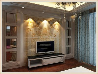 新品客厅背景墙瓷砖 别墅雕刻艺术壁画