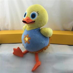 创意新款小动物黄鸭子毛绒玩具坐姿黄鸭毛绒公仔儿童