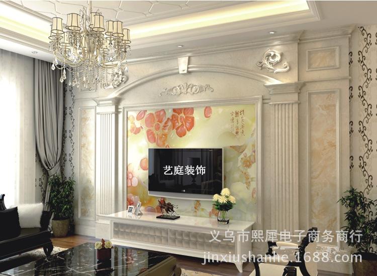 2016石塑板电视背景墙欧式
